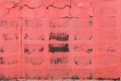 oppervlakte van Rood oud doorstaan beton Royalty-vrije Stock Fotografie