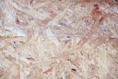 Oppervlaktetextuur van OSB Georiënteerde bundelraad stock foto