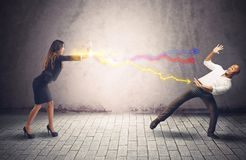 Opponent businesspeople Royalty Free Stock Photos