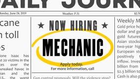 Opportunit? di carriera del meccanico immagini stock
