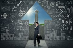 Opportunità di successo della donna di affari Immagine Stock