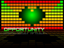 Opportunities. Background graphic with colors green, yellow and red Vector Illustration
