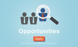 Opportunities Chance Choice Achievement Impossible Concept vector illustration
