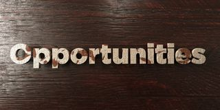 Opportunities - grungy wooden headline on Maple  - 3D rendered royalty free stock image. This image can be used for an online website banner ad or a print Royalty Free Stock Image