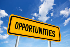 Opportunities. High resolution image of opportunities sign royalty free illustration
