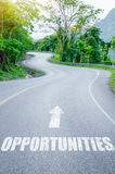 Opportunities on road concept. Royalty Free Stock Photography