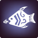 Opportunity. Big fish eats small fish stock illustration