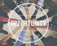 Opportunity Achievement Impossible Development Concept royalty free stock photos