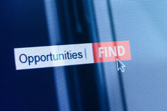 Opportunity concept computer search box Stock Photography