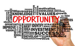 Opportunity concept with related word cloud Royalty Free Stock Image