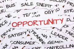 Opportunity Stock Photo