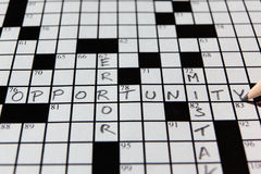 Opportunity Crossword Stock Photo