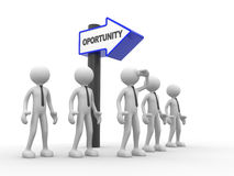 Opportunity. 3d people - man , person and arrows. Opportunity Royalty Free Stock Images