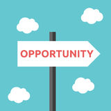 Opportunity direction road sign Royalty Free Stock Image