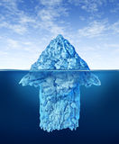 Opportunity Discovery. As a business symbol represented by an iceberg with an arrow shape hidden under the water as a concept of smart investment advice for Stock Images