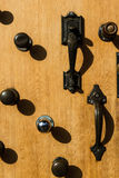 Opportunity. Doorknobs on door in portland oregon Royalty Free Stock Images