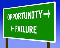 Opportunity failure sign symbol. And the sky Stock Images