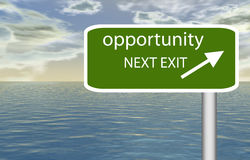 Opportunity freeway exit sign Stock Photo