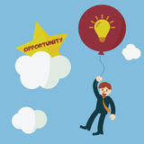 Opportunity. Idea to opportunity, vector concept royalty free illustration