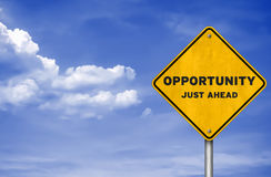 Opportunity just ahead Stock Images