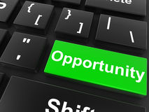 Opportunity keyboard button Stock Photo