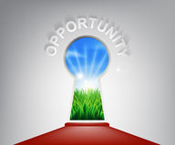 Opportunity Keyhole Concept Royalty Free Stock Photography