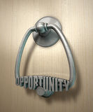 Opportunity Knocks Door Knocker Stock Photography