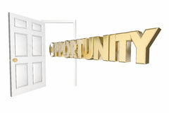 Opportunity Knocks Door Opening Word Royalty Free Stock Image