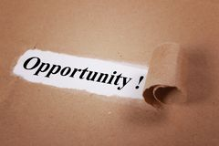 Opportunity. Motivational text Royalty Free Stock Photography