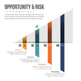 Opportunity and Risk Infographic Royalty Free Stock Images