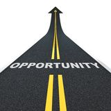 Opportunity road Stock Images