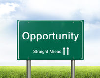 Opportunity road sign Royalty Free Stock Images