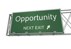 Opportunity road sign Royalty Free Stock Photography