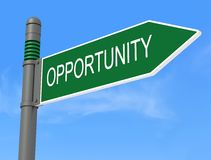 Opportunity road signpos Royalty Free Stock Photos