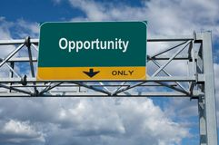 Opportunity sign stock images