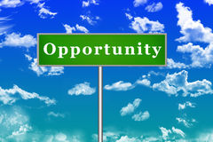 Opportunity Sign Board Royalty Free Stock Images
