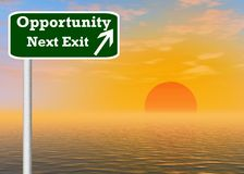 Opportunity sign post Royalty Free Stock Photography