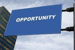 Opportunity Signboard Concept Stock Photo
