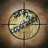 Opportunity target Royalty Free Stock Photos