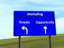 Opportunity and Threats Sign Royalty Free Stock Photos