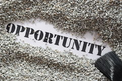 Opportunity -- treasure word series Royalty Free Stock Image