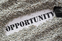 Opportunity -- treasure word series Royalty Free Stock Photography