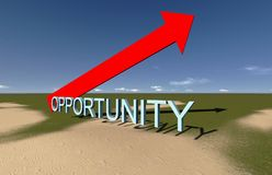 Opportunity. This way.Made in 3d software Stock Images