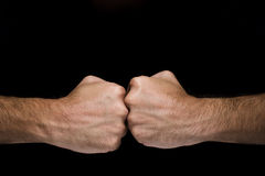 Opposed punches Stock Image