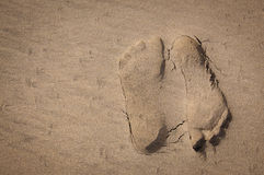 Opposing footprints Right Royalty Free Stock Image