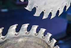 Opposing Saw Teeth Stock Photography