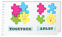 Opposite adjective together and apart Royalty Free Stock Photography