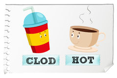Opposite adjectives cold and hot Royalty Free Stock Photography