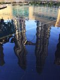 The opposite of me. The reflection of the famous twin tower in kuala lumpur Royalty Free Stock Photos