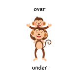 Opposite over and under illustration Royalty Free Stock Photo